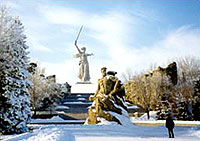 Mamayev Kurgan Museum Complex in Winter.